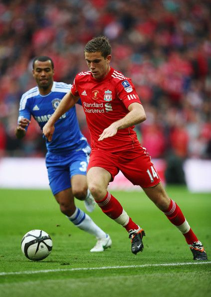 Jordan Henderson of Liverpool in action during the FA Cup with Budweiser Final match between Liverpool and Chelsea at Wembley Stadium on May 5, 2012 in London, England.