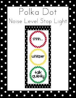 First Class Teacher: Classroom Noise Level Stop Light FREEBIE