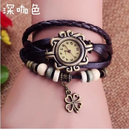 2016 Sale New Retro Trend Tables Bracelet Female Models Clover Watch Leather Fashion Watchwatches Christmas Gift Free Shipping #CLICK! #clothing, #shoes, #jewelry, #women, #men