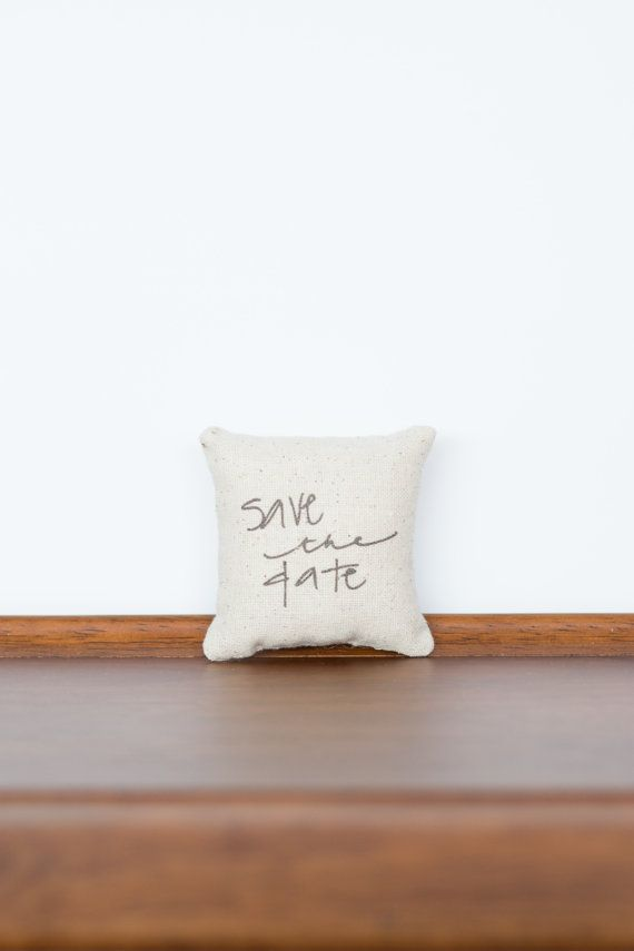 Save the Date TinyTalk Pillow  Unique Save the Date by cayteelynn