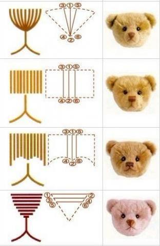 Схемы для вышивания носиков.