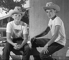 Spin and Marty was a popular series that aired as part of ABC's Mickey Mouse Club show of the mid-1950s produced by Walt Disney. There were three serials in all, set at the Triple R Ranch, a boys' western-style summer camp.  How I loved it! Cute boys and horses...what more could I want? LOL!!