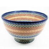 Polish Pottery Pedestal Wedding Bowl #050   Polish Kitchen Online