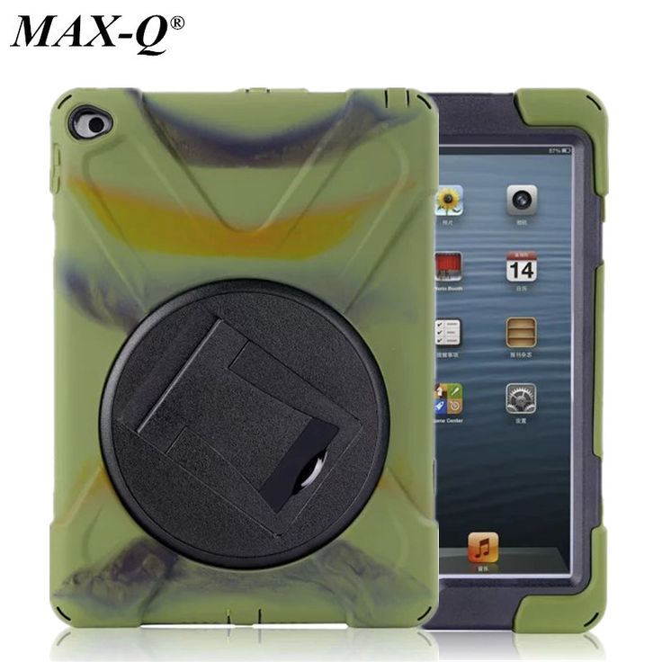 For Funda iPad Mini 4 Case Cover 3 Layers Silicone Rugged Hybrid Coque Shockproof Anti-Dust Defender with 360 Rotatable Stand