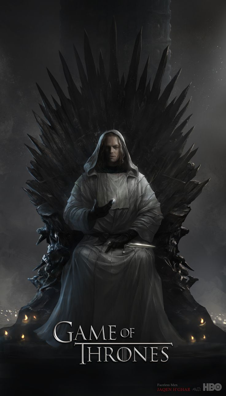 Jaqen H'ghar Sitting on the Iron Throne: Awesome Concept Illustration by Jooho Lee