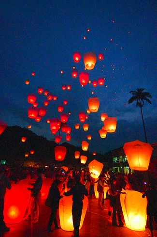 Sky lanterns - we just did this - super romanic and chic