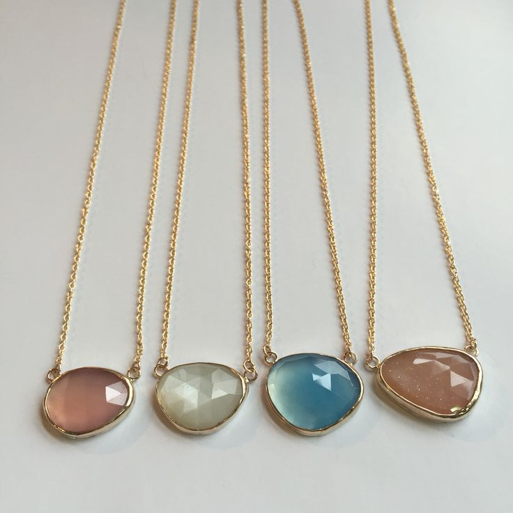 Freeform Roescut Necklaces