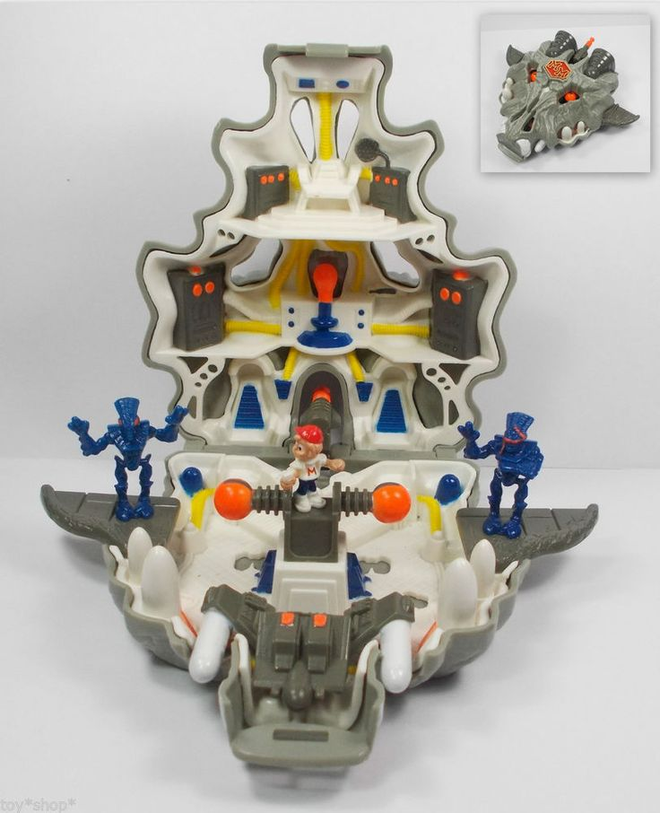 Toy Sets For Boys : Mighty max terminates wolfship doom zones horror heads