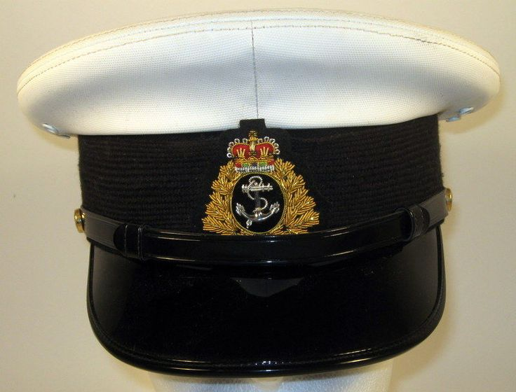 Canada Canadian Armed Forces Navy Sea Male Junior Officer Dress Hat Cap