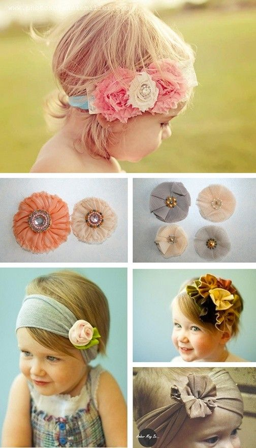 A beautiful bunch of  DIY baby headbands for your little flower ... 627b5991922