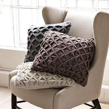 cosy knitted pillows