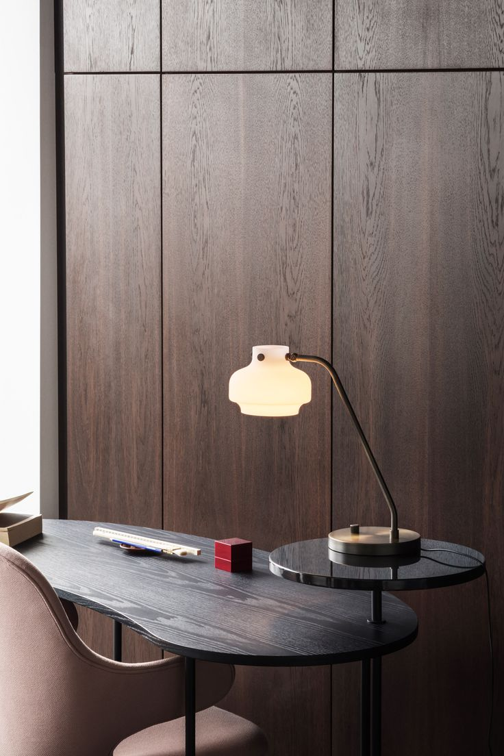 Space Copenhagen has also added to its Copenhagen lighting series with a floor light, wall light, table light and desk light version.