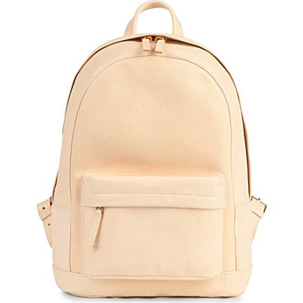 PB0110 Leather backpack (Natural