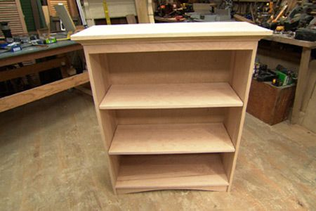 """From """"This Old House"""", how to build a bookshelf.  Haha, we'll see if I can ever build something like this."""