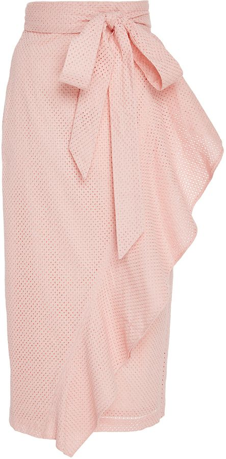 Marysia Swim Rose Seahaven Asymmetric Ruffle Skirt