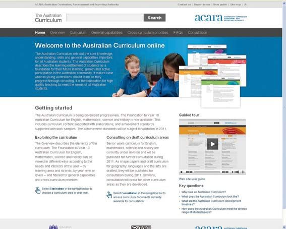 Australian Curriculum Planning Documents – Foundation to Year 6 on http://www.australiancurriculumlessons.com.au