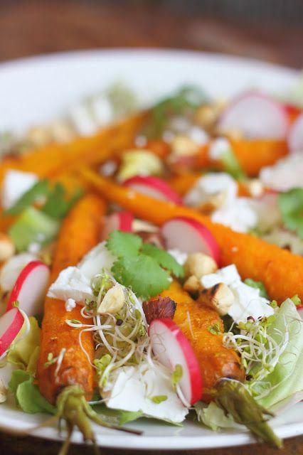 Smakowity Blog Kulinarny: Sałatka z pieczonymi marchewkami
