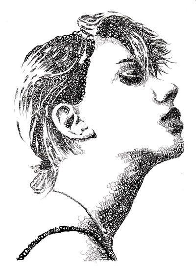 Type Faces - Typographic portraits