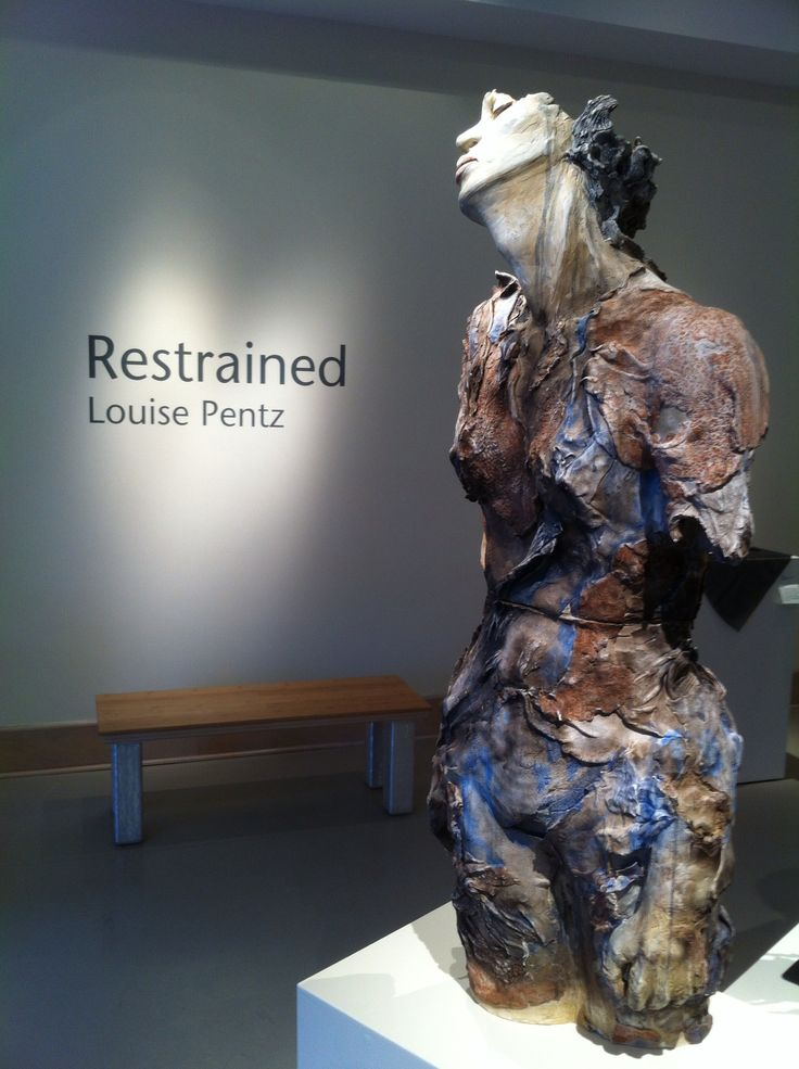 Restrained by Louise Pentz: A collection of figurative, smoke-fired clay sculpture focusing on the strength and resilience of women as they fight or adapt to the limitations placed on them. March 1st - April 7th, 2013