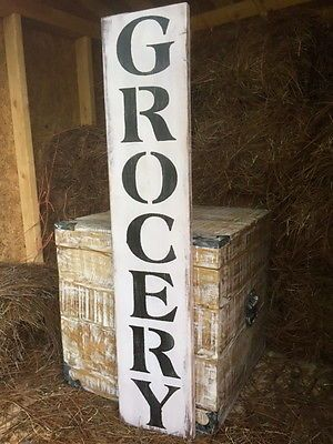 Details About Large Rustic Wood Sign Quot Grocery