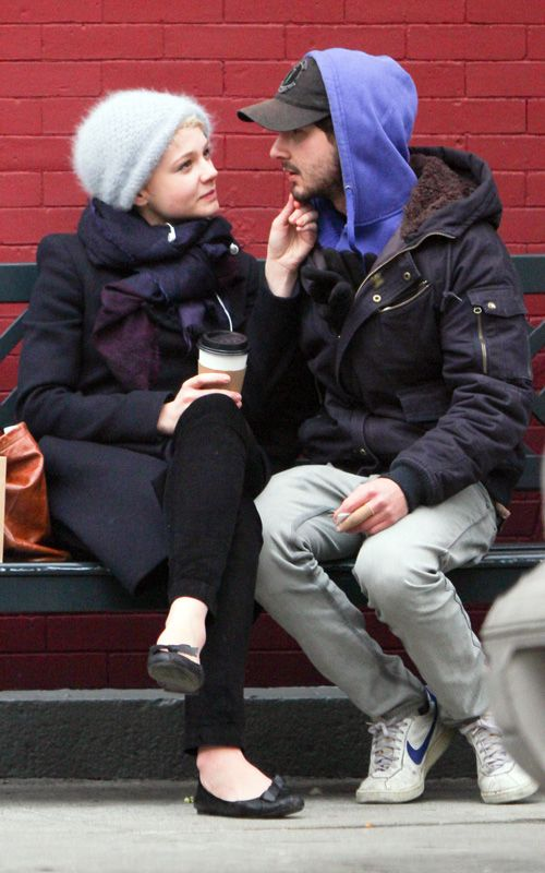 Carey Mulligan and Shia LaBeouf. They were in Wall Street: Money Never Sleeps together.