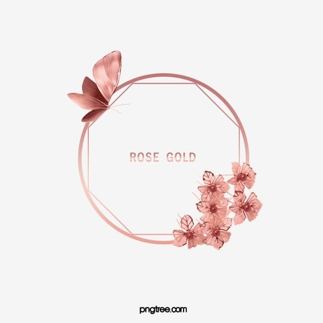 Elegant Deluxe Rose Gold Round Butterfly Lace Frame In 2020 Rose Gold Logo Rose Gold Painting Floral Logo Design