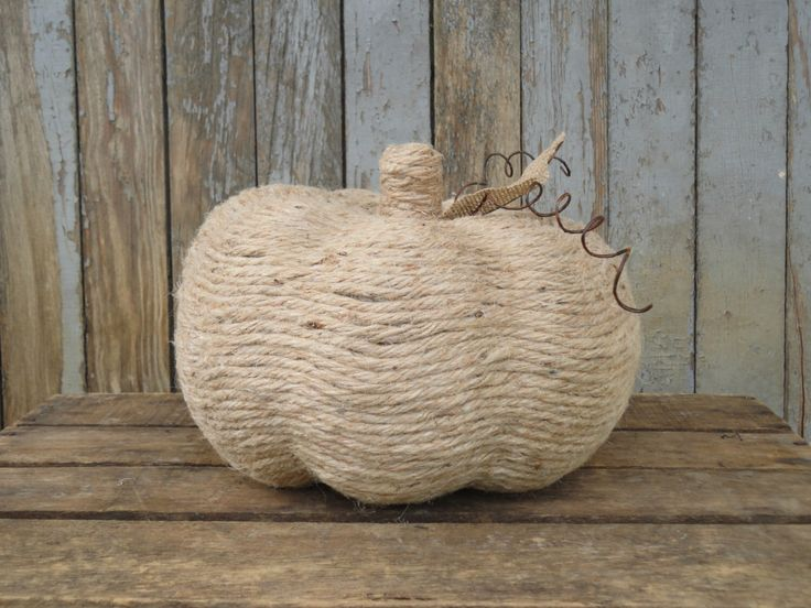Twine Pumpkin, Rustic Pumpkin, Rustic Halloween Decor, Rustic Thanksgiving Decor, Rustic Fall Decor, Pumpkin, Thanksgiving Centerpiece by WhimsyChicDesigns on Etsy https://www.etsy.com/listing/243505623/twine-pumpkin-rustic-pumpkin-rustic