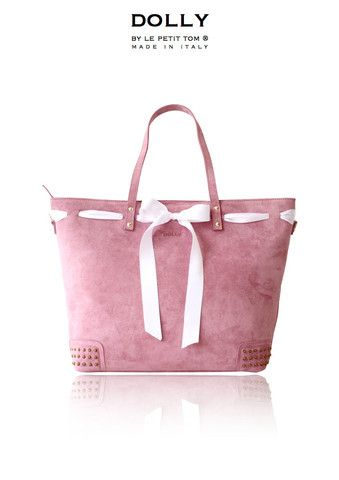 DOLLY Diaper bag MOCCASIN BAG DMBAG7 dusty pink suede & bow