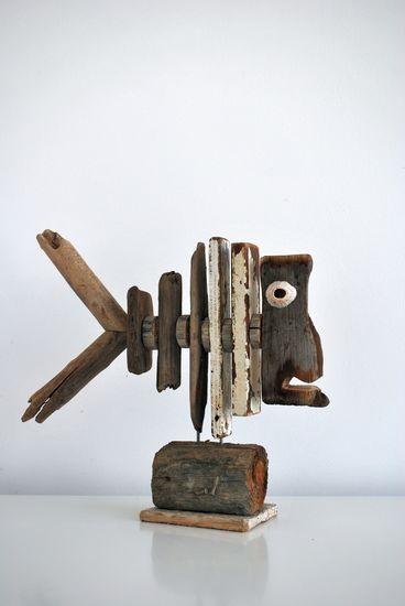 Driftwood 21 fish made at Dijkstijl.com