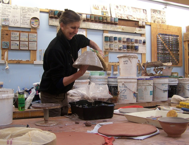 Slip and broom technique   Lucy Fagella Pottery