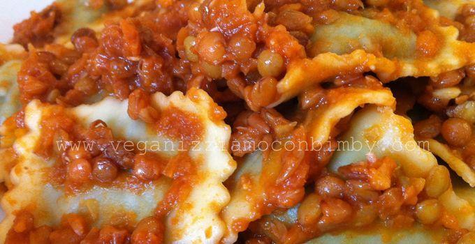 Ragù di Lenticchie Vegan per Bimby #ragùvegetale #lenticchie #Bimby