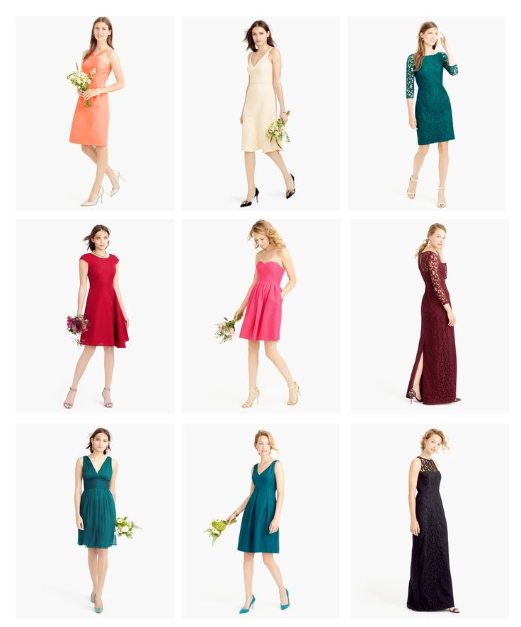 Loving the new J.Crew bridesmaid dresses for fall + winter weddings!