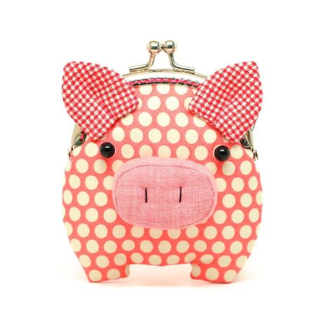 子豚 小銭入れ   かわいらしい動物たちの小銭入れ by misala handmade                                                                                                                                                     もっと見る