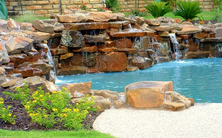 Large Waterfall Design Moss Rock Waterfall Feature Large Flat Rock Waterfalls Fort Worth