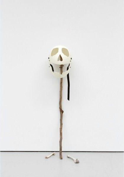 Mike Nelson, 'Amnezi Skalk Kask (2012)', helmet, wood and bones