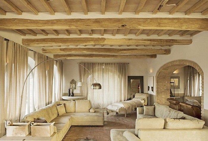 Солнечный тосканский стиль интерьера гостиницы Conti di San Bonifacio