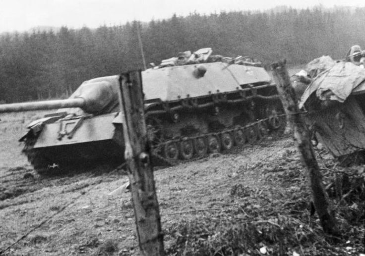 Panzer IV/70 (V) tank destroyer (also known as the Jagdpanzer IV) in action during the German counter-offensive in the Ardennes, December 1944.