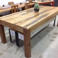 Recycled wood and bench seats