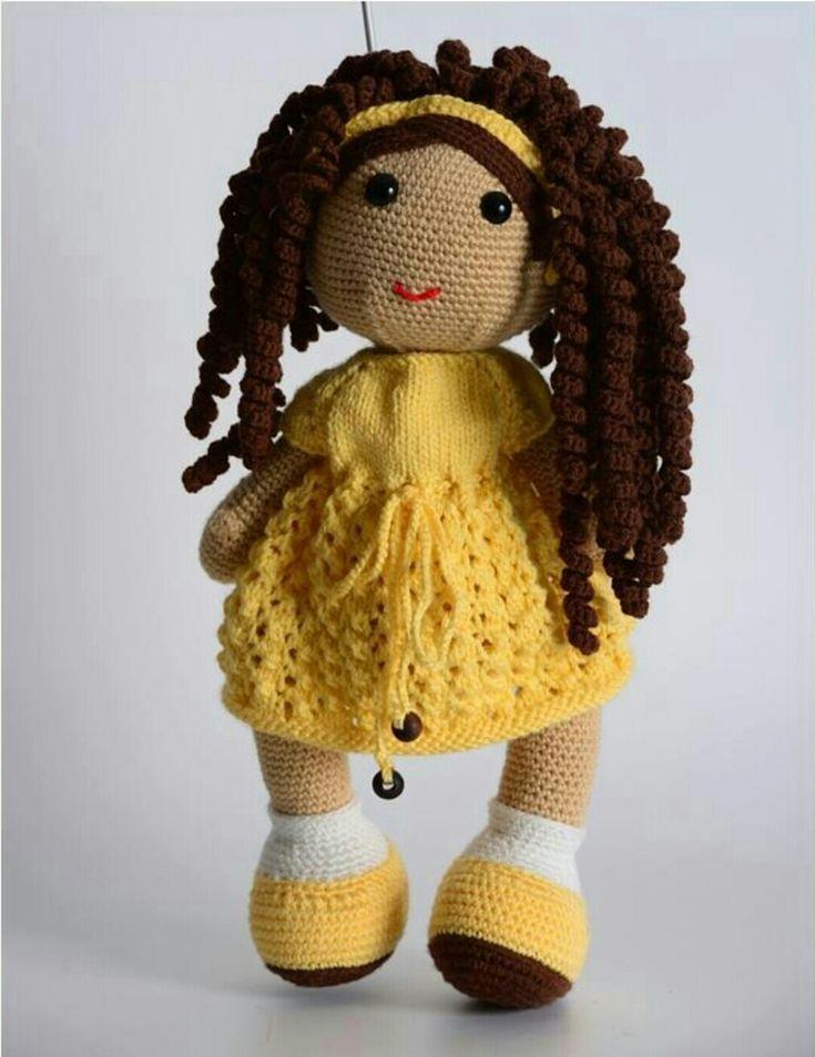 Amigurumi Örgü Oyuncak Modelleri – Amigurumi Kıvırcık Saçlı Kız Bebek Tarifi  ( Anlatımlı )