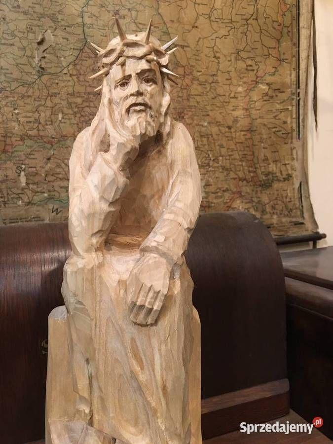 Rzezba Jezus Frasobliwy Kapliczka Warszawa Sprzedajemy Pl Sculpture Art Greek Statue