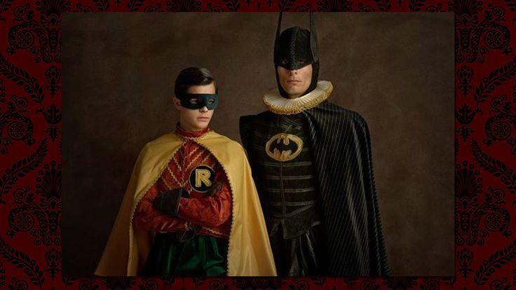 El fotógrafo Sacha Goldberger creó una versión de los superhéroes del Renacimiento, mostrando cómo serían en el siglo XVI.