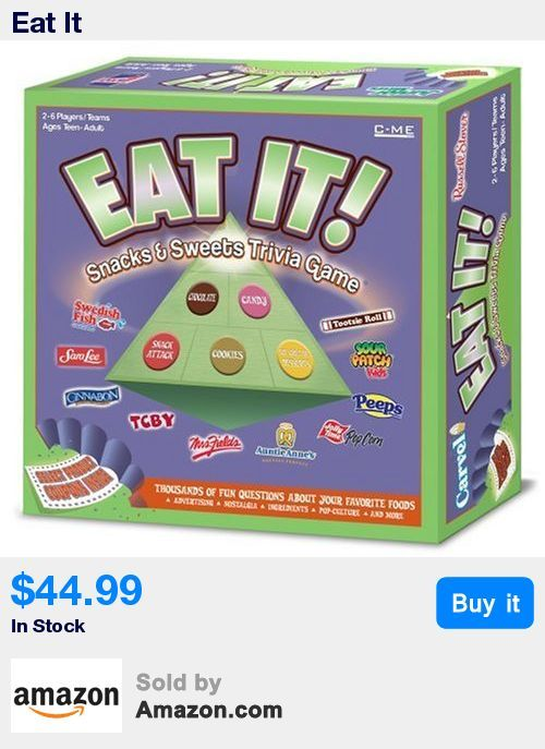 Snacks and Sweets Trivia Game is an exciting board game about the fun foods that everyone loves to eat * Game board, die, thousands of fun questions on trivia cards, game pieces * Answer the questions correctly, make your way to the top of the Snack & Sweets Pyramid * Recommended for 2-6 players * Included are coupons valued at approximately $5.00 for some of your favorite tasty treats * Not suitable for use by young children, use only under close adult supervision