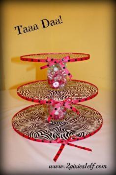 DIY Tutorial DIY Cake Stands / DIY Cupcake Stand - Bead&Cord