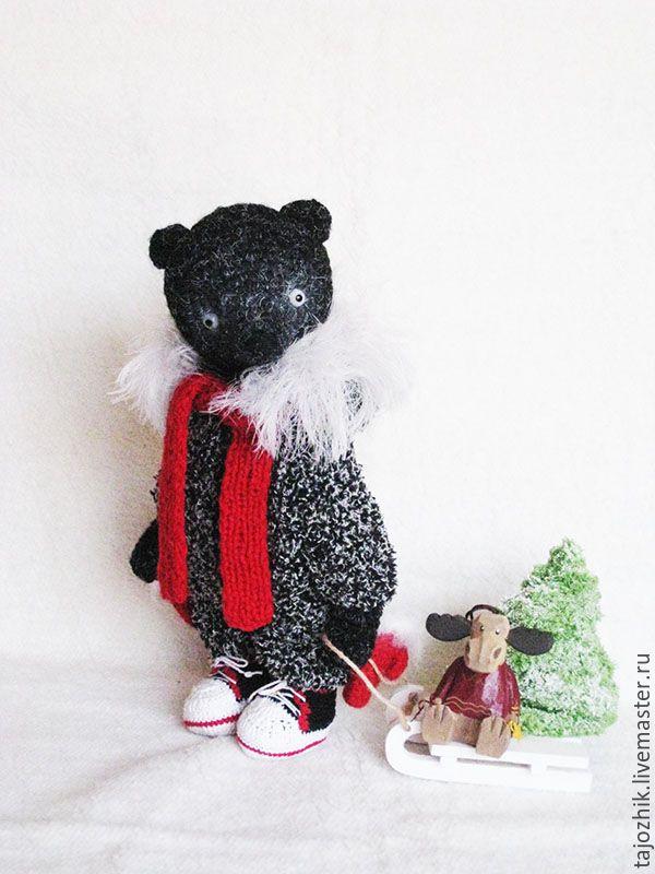 Купить Мишка - комбинированный, мишка, мишка тедди, мишка ручной работы, медведь, медведь тедди