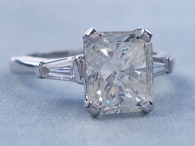 3.27 ctw Radiant Cut Diamond Engagement Ring H-I SI3. For sale on our website www.bigdiamondsusa.com or call us at 1-877-795-1101 for more information.