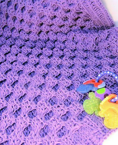 Honey Sweet Baby Blanket | CrochetKim | Tunisian Crochet Honeycomb Cable | Free Crochet Pattern