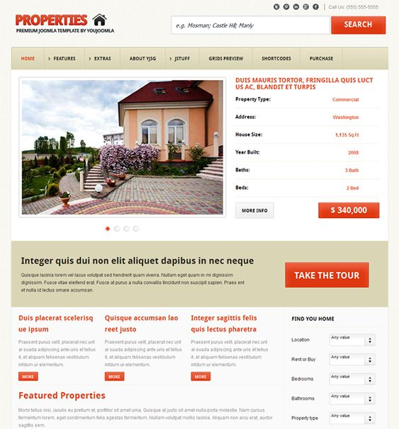 10 Best 10 Of The Best Joomla Real Estate Templates Images On