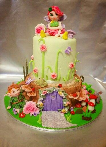 Fairy elf cake fondant garden topper