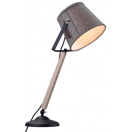 Efektowna grafitowa lampa stołowa Legend z drewnianym elementem marki Markslojd…