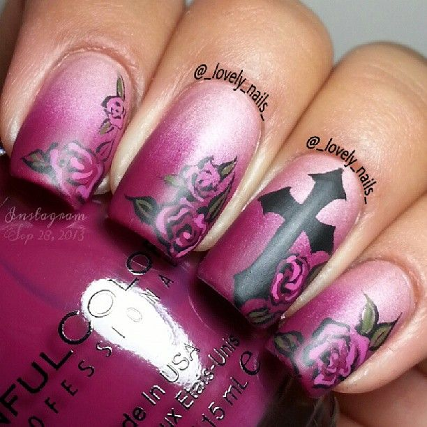 Best 25 cross nail designs ideas on pinterest diy nails black rose and cross nails prinsesfo Images